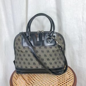 Dooney & Bourke Black Signature Top Zip Satchel